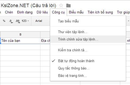 Trình chỉnh sửa tệp lệnh