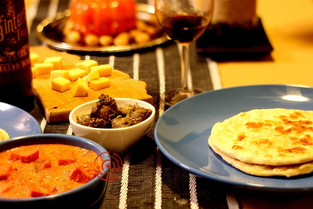 Indian Dinner Party Ideas Part - 27: North Indian Vegetarian Party Menu : Dhoodi Mushroom Kebab, Paneer Butter  Masala And Homemade Naan