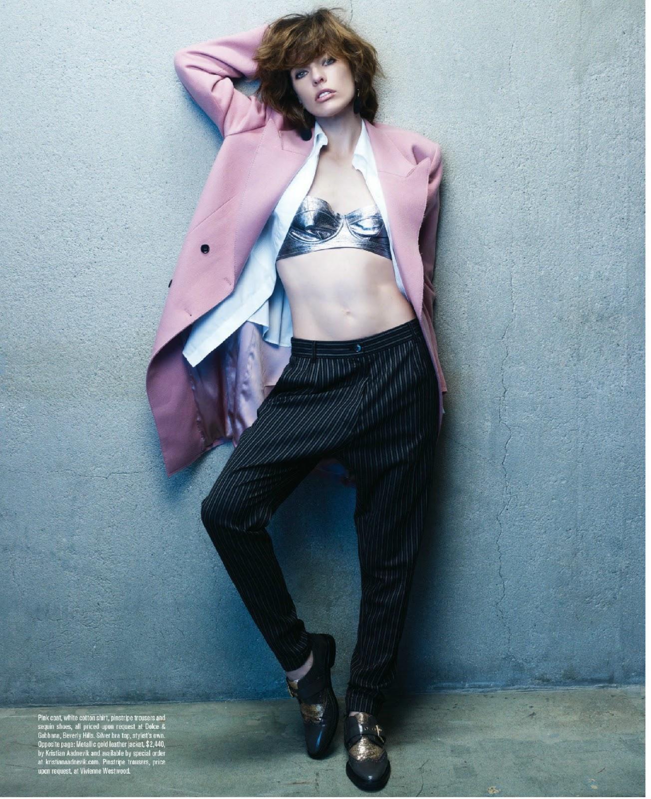 Milla Jovovich for Angeleno Magazine October 2011