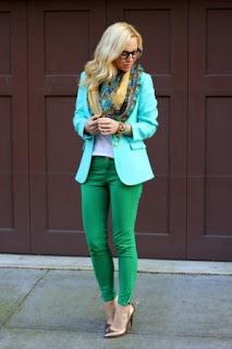 mint green e outros verdes