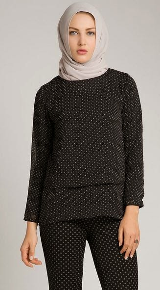 Koleksi Desain Baju Atasan Wanita Muslim Dewasa Terbaru 2015