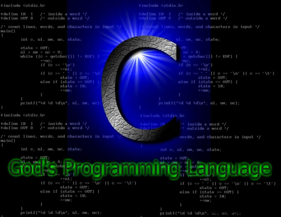 C Gods Programming Language Wallpaper  Download HD Wallpapers