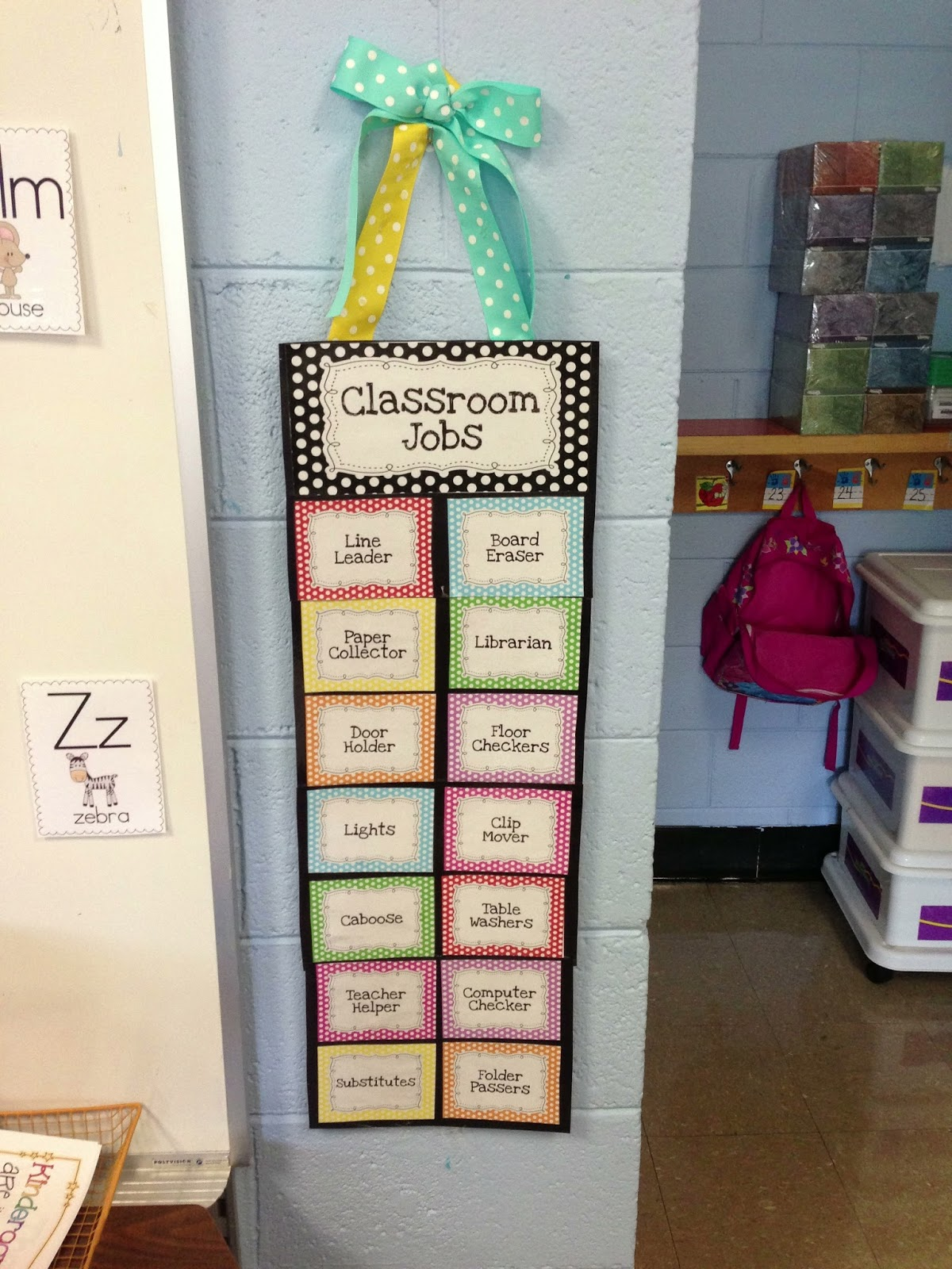 Modular Classroom Yrdsb ~ Job chart ideas for preschool classroom helpers