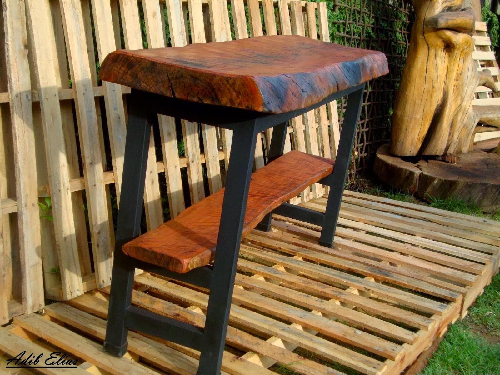 Aparador de madeira reciclada com base de pés de máquina de costura  #B37E18 1600x1200