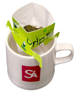 Here is an example of using our premium drip tea filters to make delicious premium hojicha tea