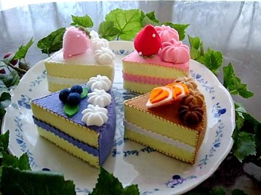 Moldes bolo de feltro
