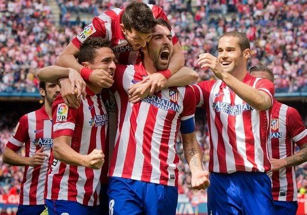 Celebración de un gol del Atlético
