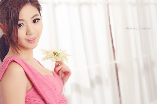 1 Chae Eun in Pink  - very cute asian girl - girlcute4u.blogspot.com