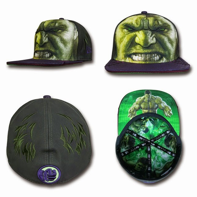 Marvel's Avengers Age of Ultron Armor 59Fifty Cap Collection by New Era - The Incredible Hulk