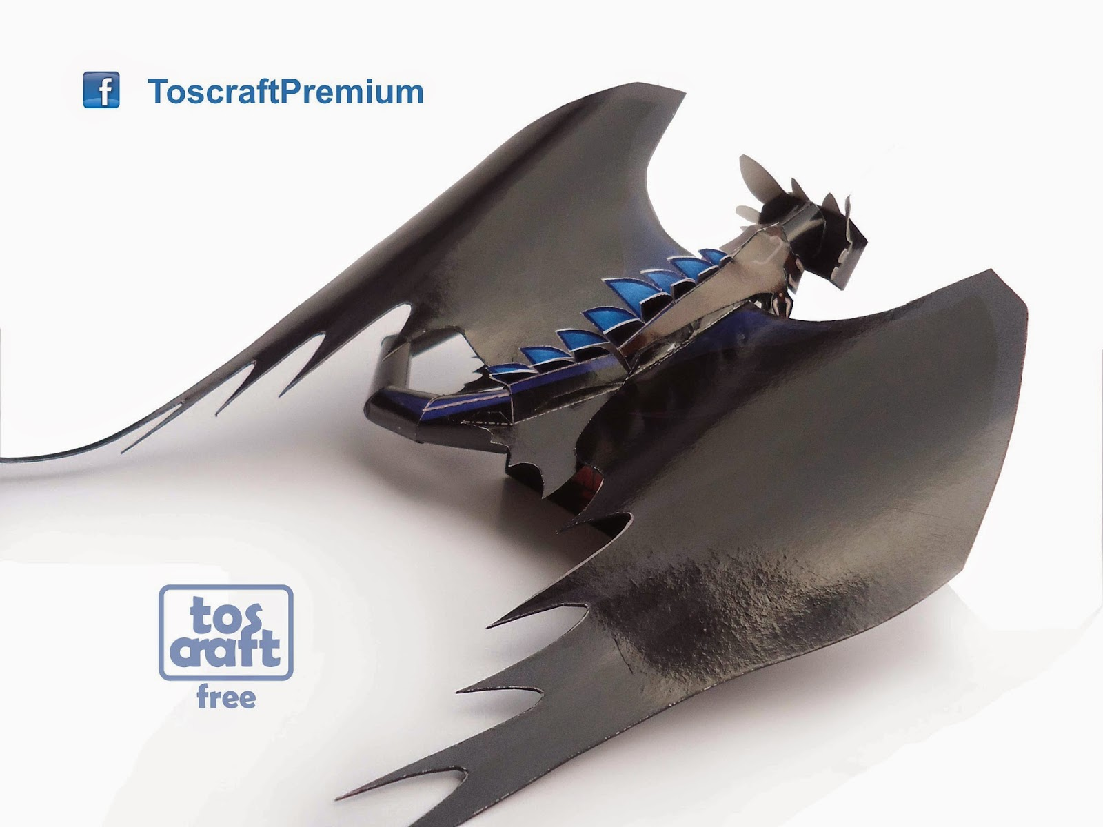 Tos-craft: TOOTHLESS (How to Train Your Dragon 2) Papercraft - photo#35