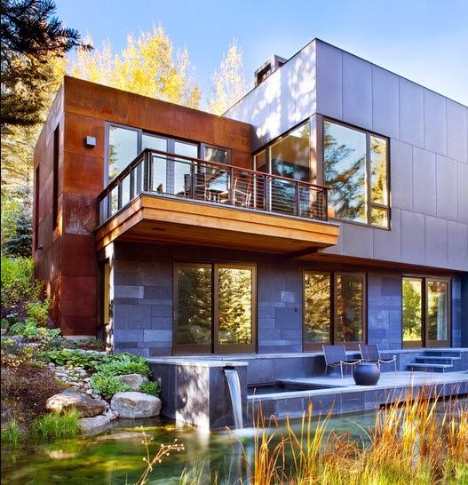 Fachadas de casas de lujo dise o l neas y estilos fotos for Casas con piscina y jardin de lujo