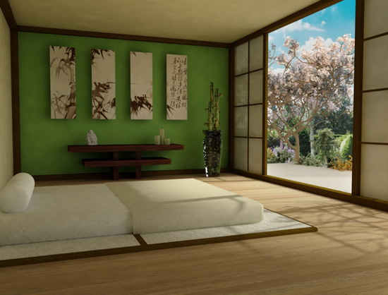 Oriental Master Bedroom Design Ideas