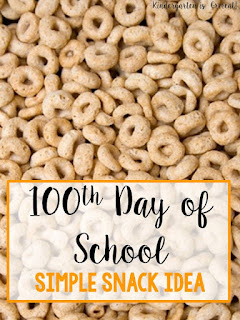 The 100th day of school is a fun day to celebrate!  Check out this 100th day of school snack mix that we make in kindergarten!  Lots of ideas to personalize your 100th day trail mix inside!