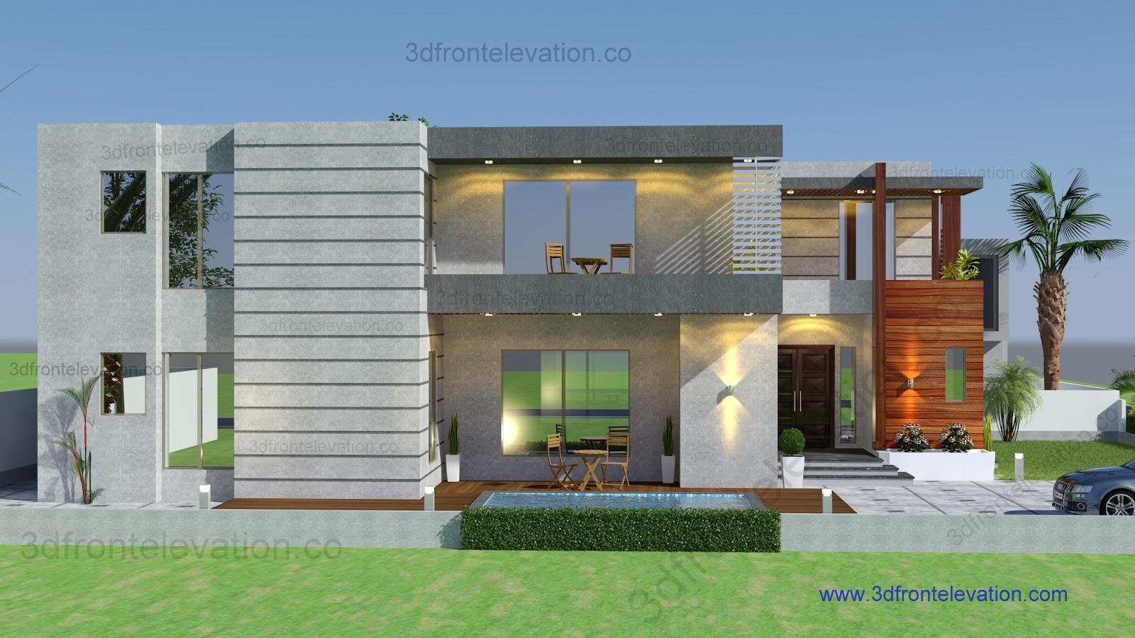 D Front Elevation Maker : D front elevation best housing designs of