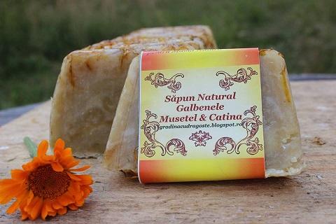 Sapun Natural Galbenele, Musetel&Catina