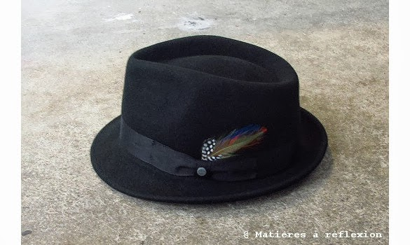 Stetson Chapeau Richmond noir en laine avec une plume