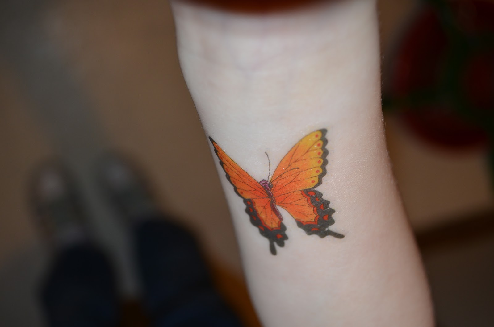 Just keep swimming butterfly tattoo photograph 2 for How to protect a new tattoo when swimming
