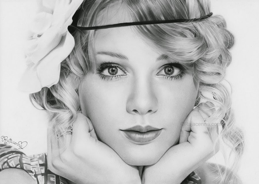 12-Taylor-Swift-Rajacenna-Photo-Realistic-drawings-from-a-novice-Artist-www-designstack-co