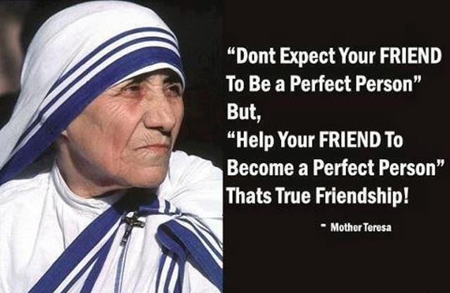 Most Famous Sayings About Friendship : True friendship quote by mother teresa inspirational picture quotes
