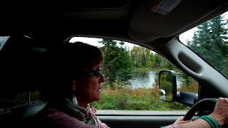 Liz driving the truck.