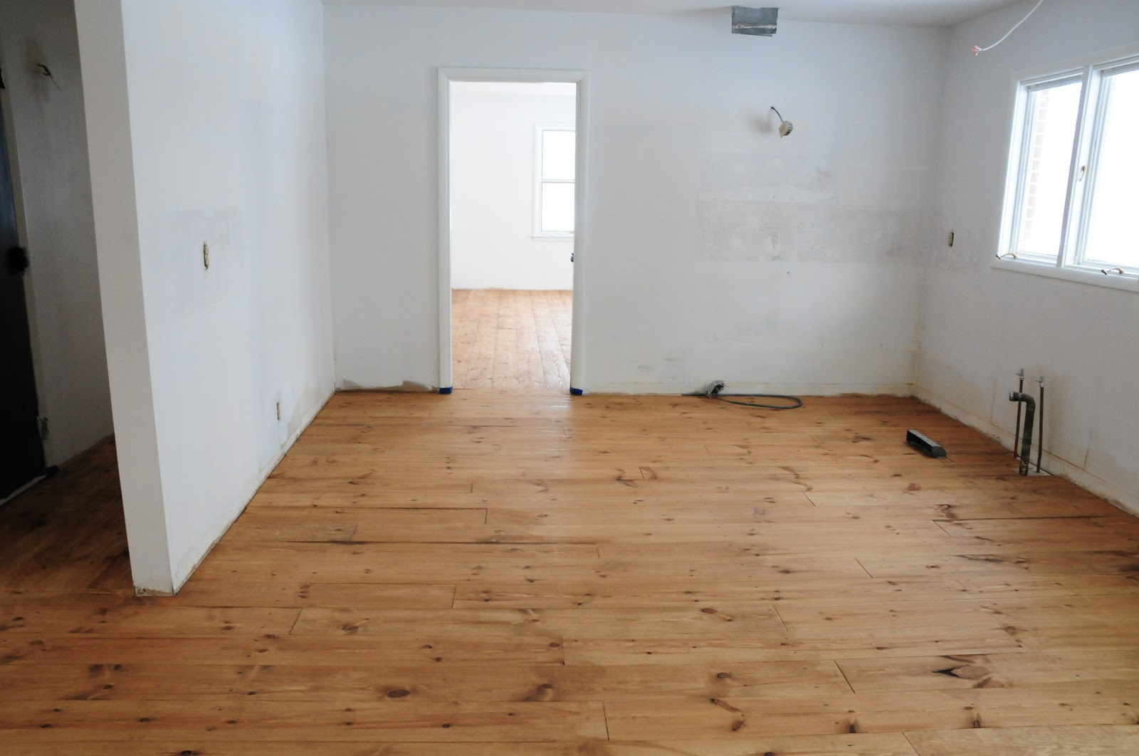 Plum Tree Place Floors Stained Minwax Early American