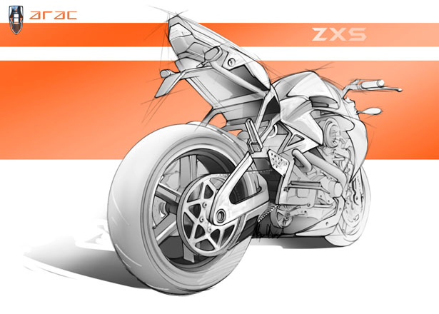 Concept Motorcycles - THE ARAC ZXS MOTORCYCLE CONCEPT  by Marko Petrovic