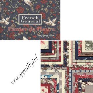 PANIER DE FLEURS Quilt Fabric by French General for Moda Fabrics