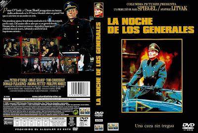 Caratula dvd: La Noche de los Generales | Caratula | Película