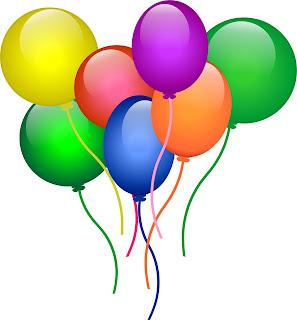 Balões - crianças felizes