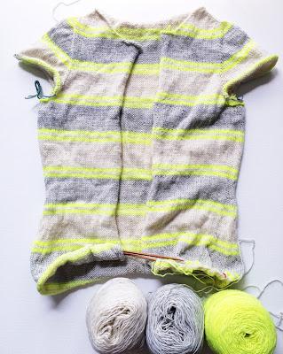 Cyllene knit cardigan WIP