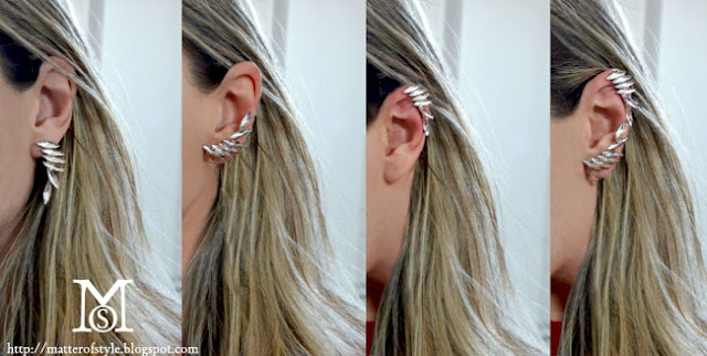 diy earcuff, diy earrings,diy,fashion diy, diy earrings