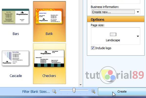 Cara membuat kartu nama dengan Microsoft publisher