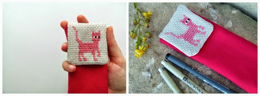 How I've changed my photos on etsy - pink cat pencil case