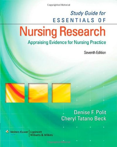 Nursing Research Book By Polit And Beck