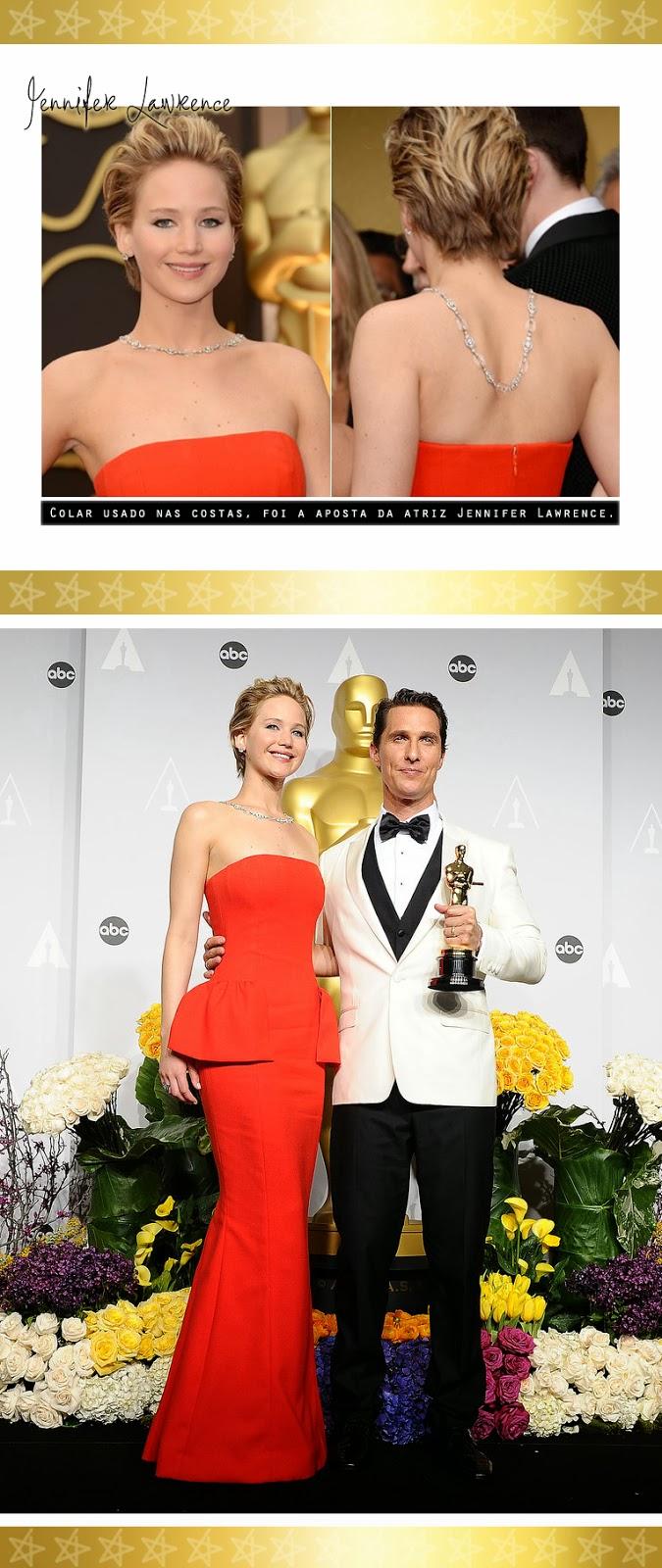 acessório, colar, Oscar 2014, moda, fashion, style, inspiração, colar nas costas