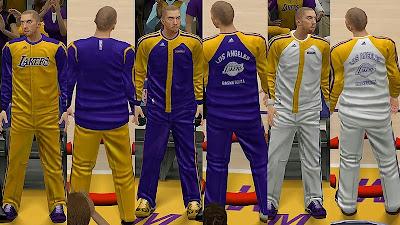 NBA 2K14 New Lakers' Bench Uniforms