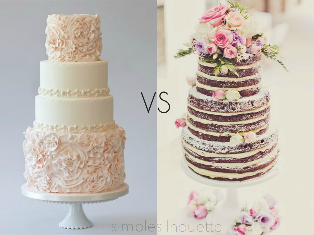 Simple Silhouette Wedding Cakes New Trend