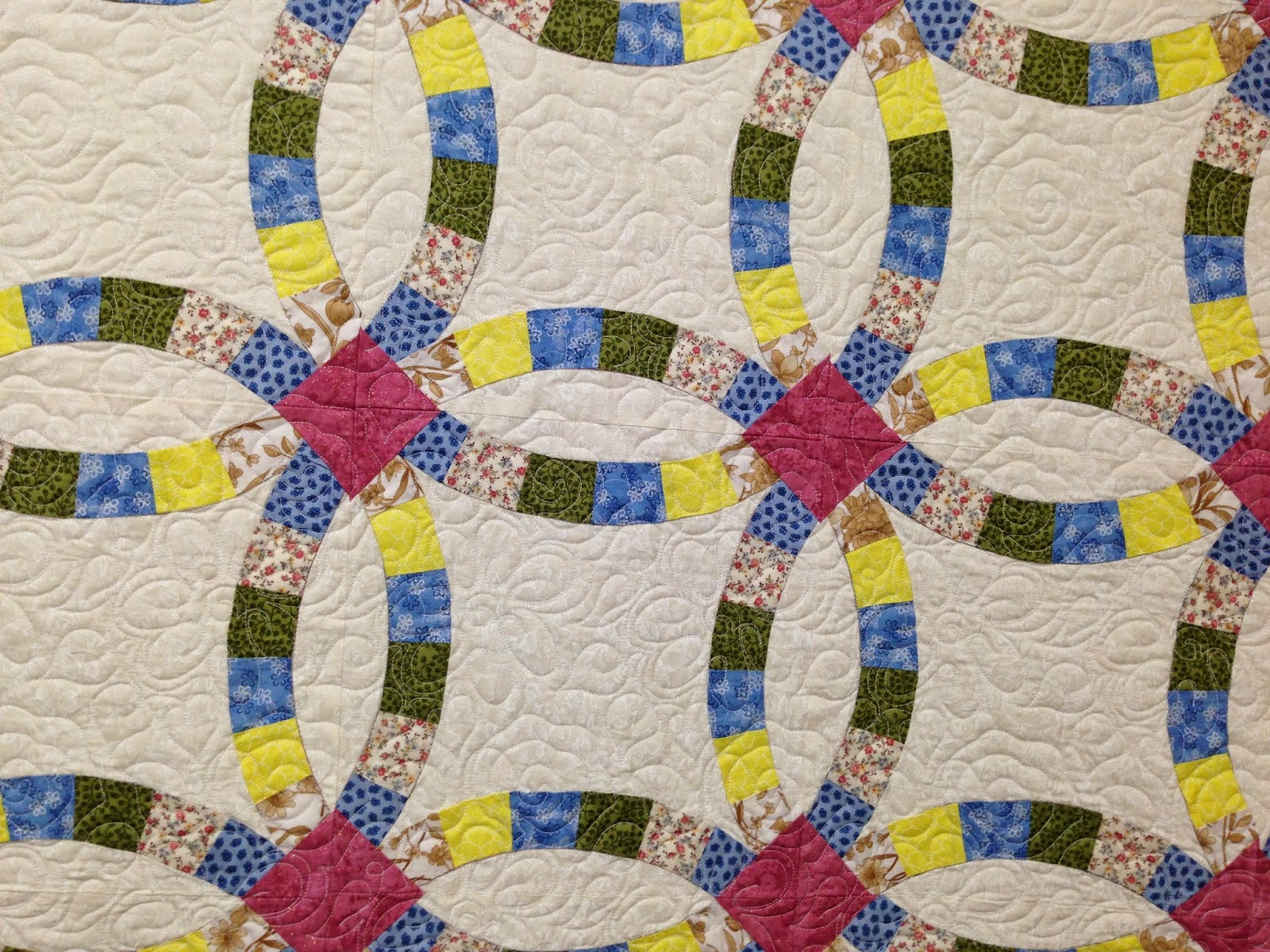 Kathy Ellis Double Wedding Ring Quilt