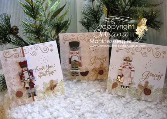 group of thank you notes with nutcracker stickers