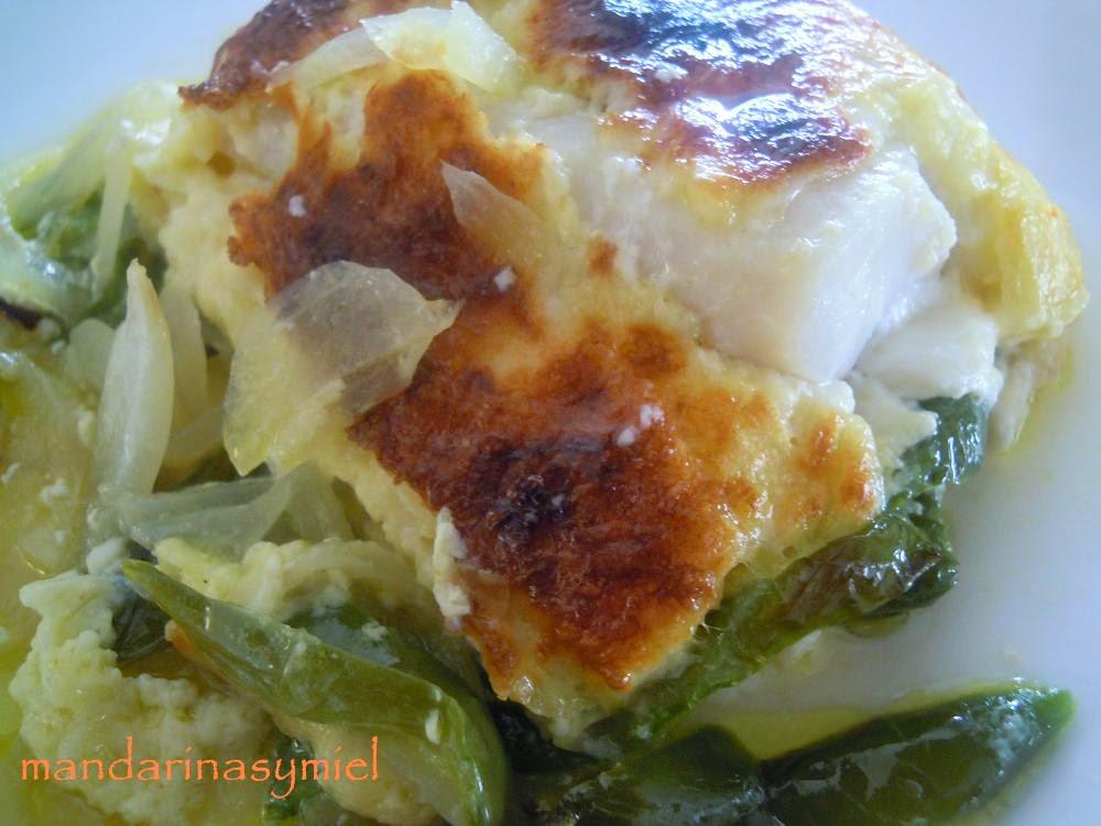 Mandarinas y miel bacalao gratinado con verduras - Cocinar bacalao desalado ...