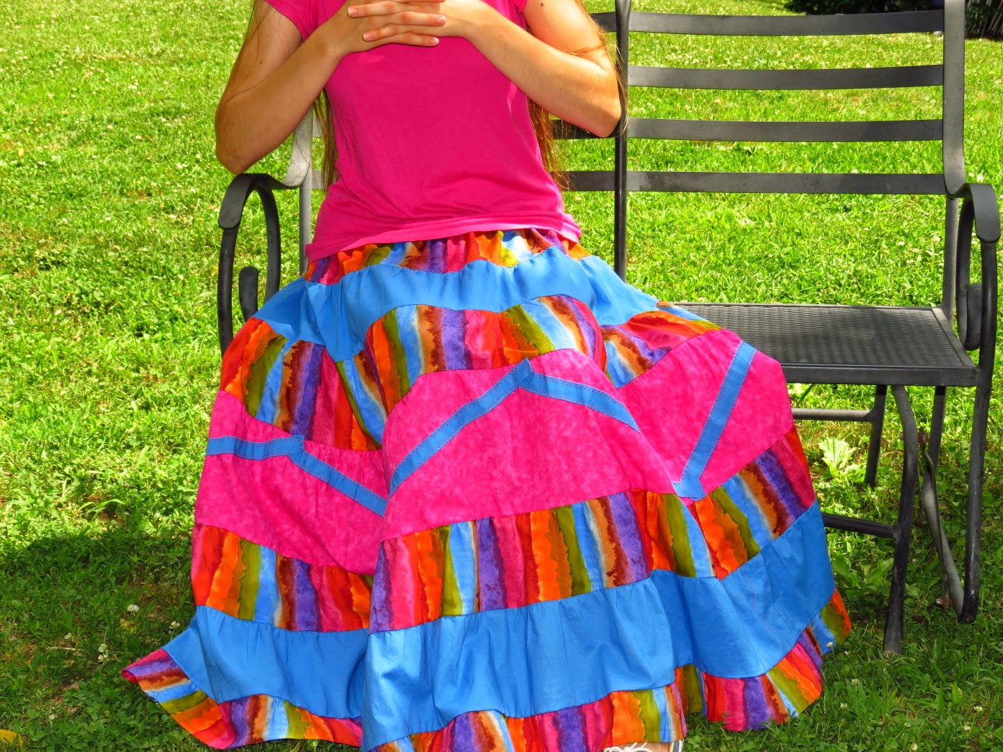 Rainbow Glow Ladies Tier Skirt