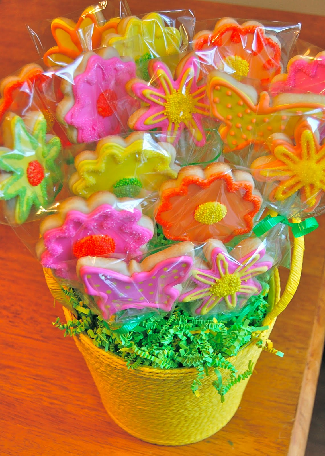 Chef Mommy Flower And Butterfly Cookie Bouquet