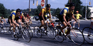 Riders in Atlanta bicycle race