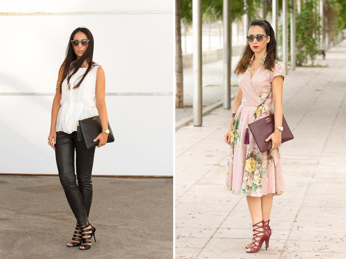 Blogger valenciana con Look con pantalones de cuero y sandalias Jimmy Choo y look lady con sandalias Isabel Marant