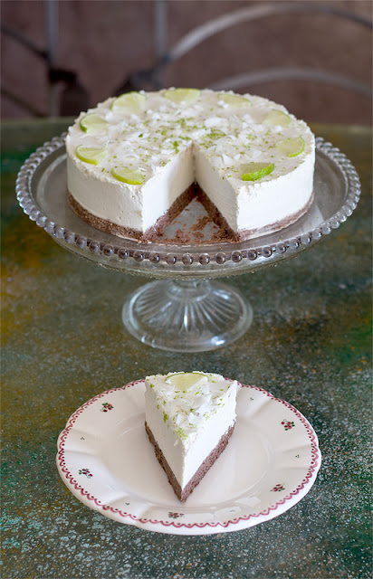 Raw lime cake one pisece front