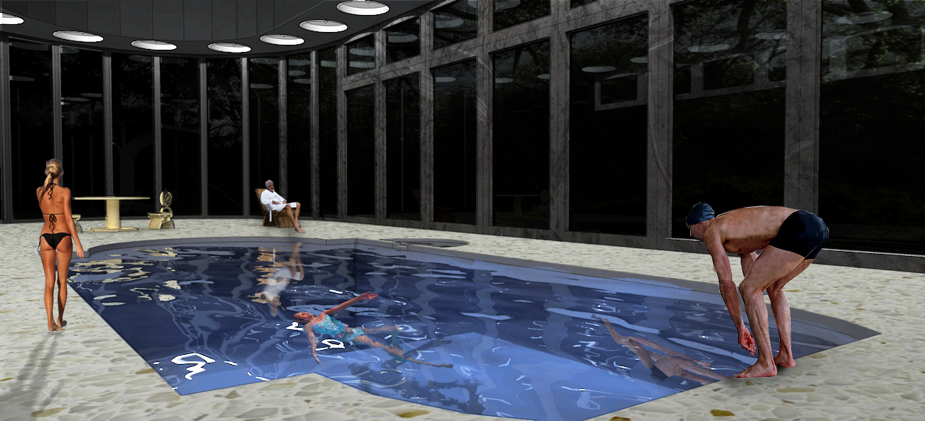 Pool Water Rendering Kyra Illustration Production