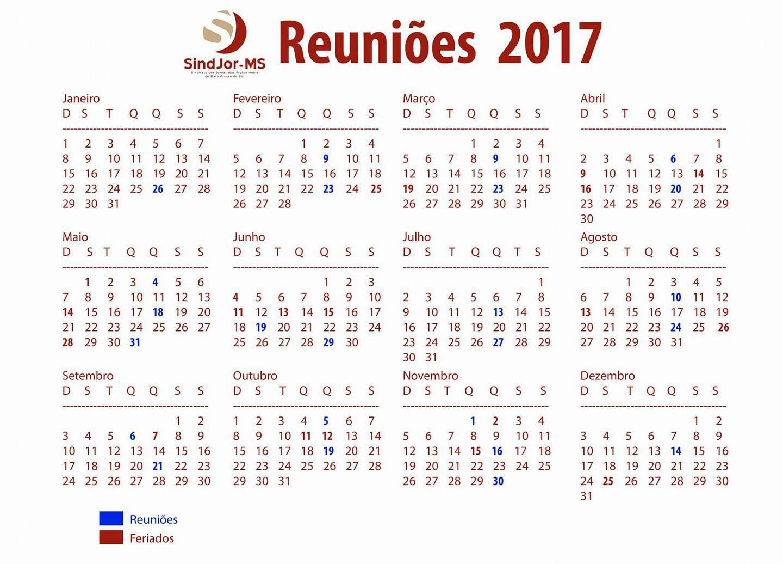 Calendário de Reuniões 2017