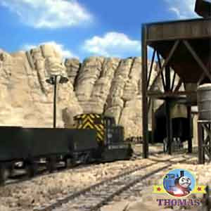 Sodor mountain top haunted spooky quarry spectacularly clattering and ghoulishly clanking train work