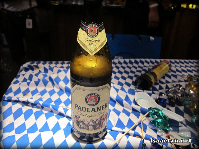Paulaner Oktoberfest Bier for our enjoyment at GAB's Oktoberfest 2012