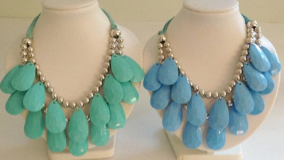 Mint Aqua | necklaces for charity | blog.sassyshortcake.com